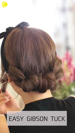 Easy Gibson Tuck Hair With A Hairband C Channel