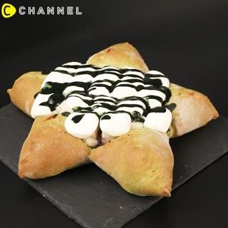 攻佔各大美食版 星星抹茶披薩