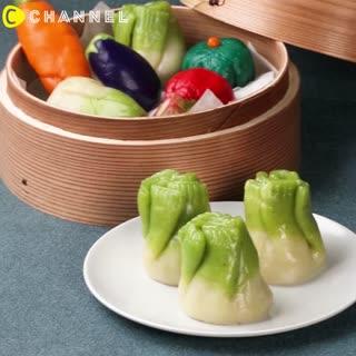 逼真度超乎想像 有趣的蔬菜餃子