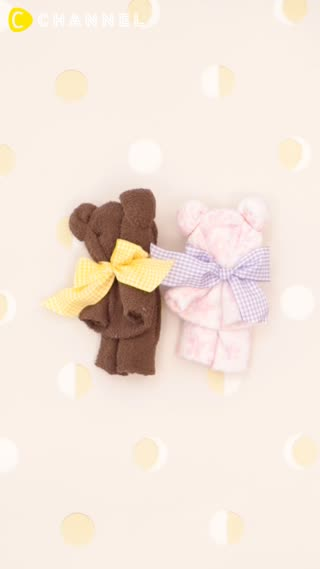 抱きしめたいキュートさ!ふわふわ優しい「くまさんタオル」を贈り物に♡ | C CHANNEL